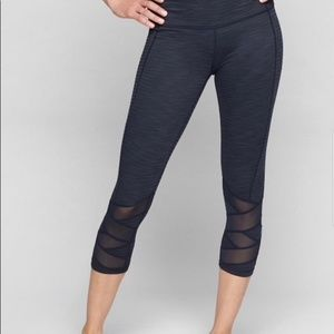 ATHLETA Mantra Capri Leggings - Solid Black NWT